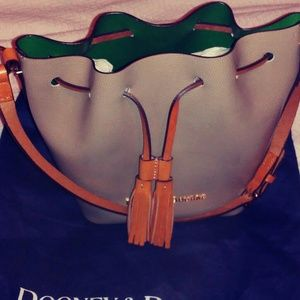 Authentic Dooney & Bourke Drawstring Tassel Bag